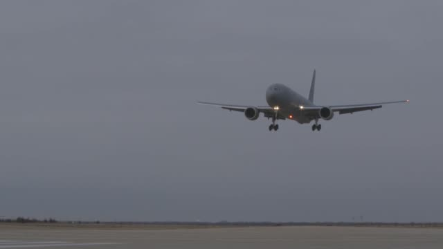 two kc46a pegasus tankers land at mcconnell air force base kansas - pegasus stock videos & royalty-free footage