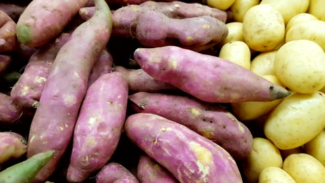 two kinds of potatoes - sweet potato stock videos & royalty-free footage