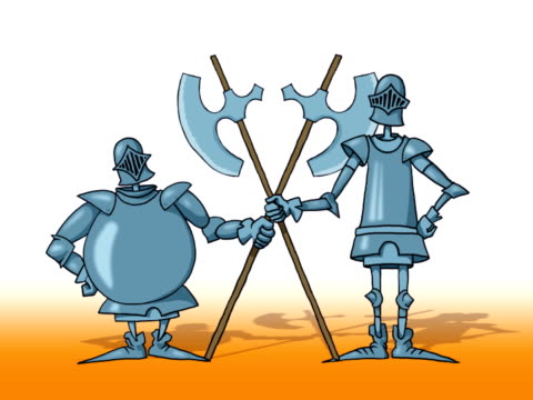 two knight (dolly cam) - health and safety stock videos & royalty-free footage