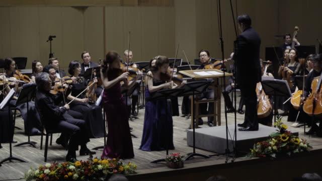 two korean soloist performing classical music. - soloist stock videos & royalty-free footage