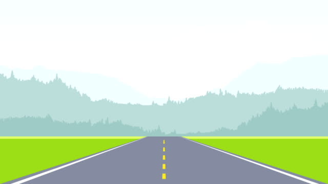 two lane asphalt highway road animation - road stock videos & royalty-free footage