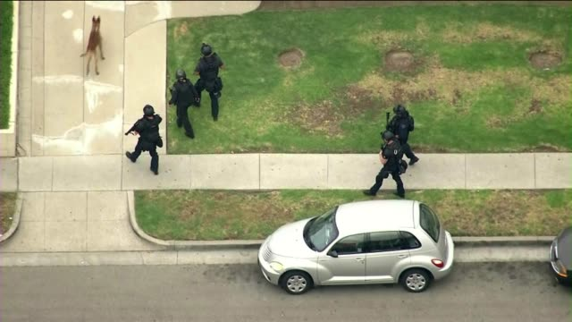 two lapd officers shot in ambush on june 25, 2013 in los angeles, california - los angeles police department stock videos & royalty-free footage
