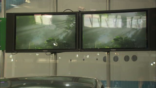 MS Two large displays at Beijing Auto Show, Beijing, China