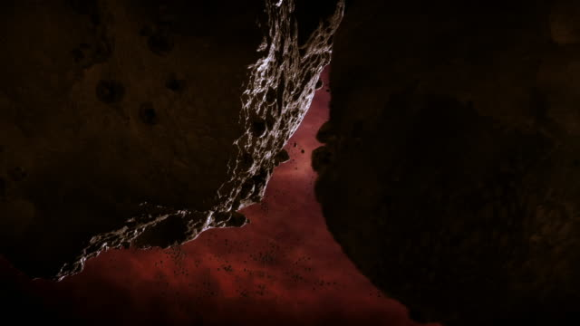gfx two large lumps of rock collide in space - solar system stock videos & royalty-free footage