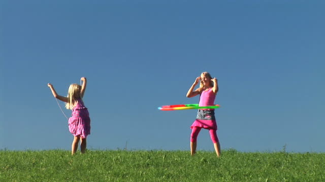 HD: Two Little Girls Exercising