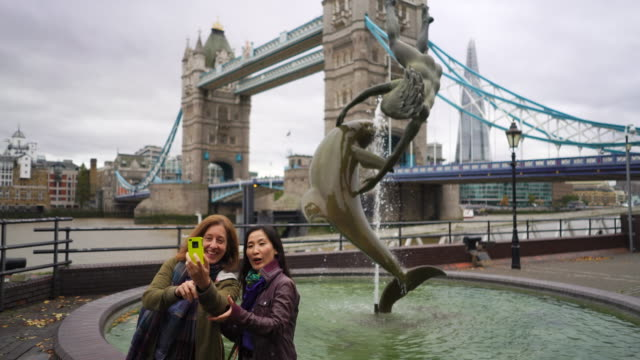 Two loverly women having a fun day out in London.