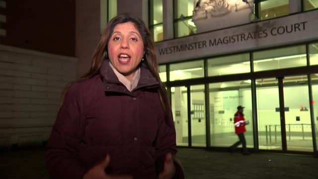 Two men appear in court accused of planning terrorist attack London Westminster Magistrates' Court Reporter to camera