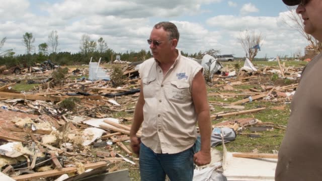ms two men describe how their family survived the tornado deadly tornadoes ripped through the region starting on april 27 leaving more than two dozen... - survival stock videos & royalty-free footage