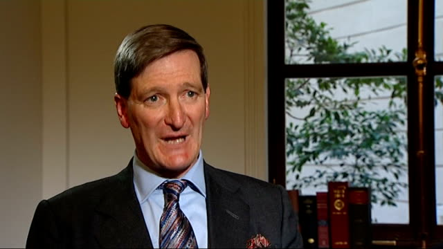 two men found guilty of breaching ban on jamie bulger killers' adult identities london int dominic grieve mp interview sot - dominic grieve stock videos and b-roll footage