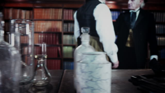 two men in period clothing have an argument and fight - crime and murder stock videos & royalty-free footage