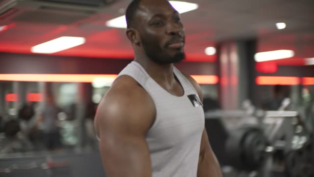 two men in the gym - high five stock videos & royalty-free footage