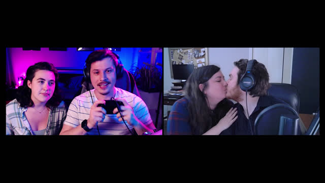 two men play multiplayer video games on a video call while their girlfriends cheer them on - alpha channel stock videos & royalty-free footage