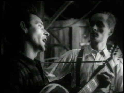 1946 b/w two men playing country tune / united states - country and western stock videos & royalty-free footage