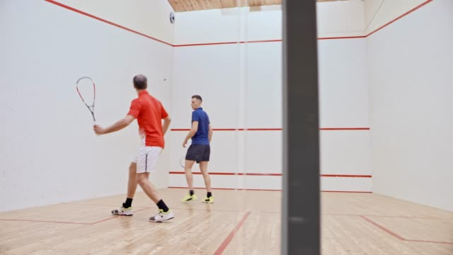 ds two men playing squash - squash sport stock videos & royalty-free footage