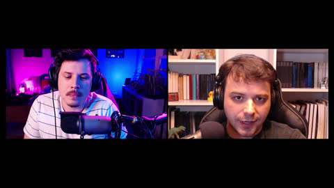 two men speak into microphones while recording a podcast - alpha channel stock videos & royalty-free footage