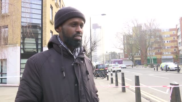 stockvideo's en b-roll-footage met two men stabbed to death in camden dalmar jana interview sot lemam bechir interview sot - kentish town