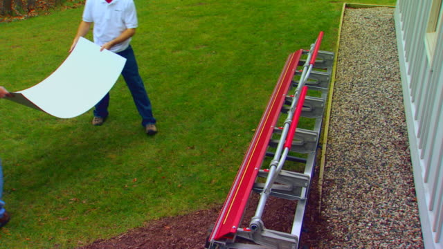 two men working with sheet metal - sheet metal stock videos and b-roll footage