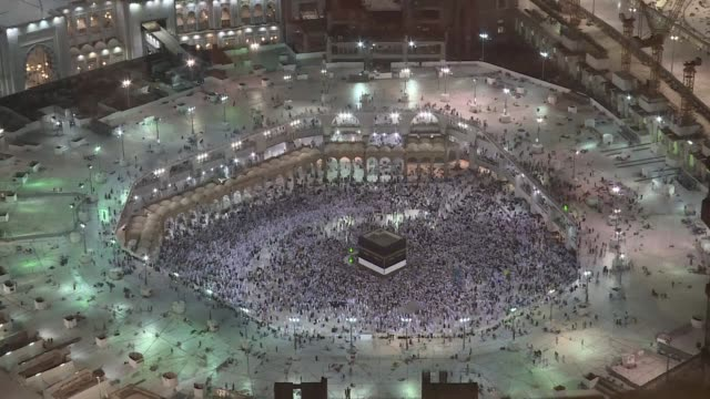 two million muslims from across the globe were converging on mecca in saudi arabia sunday for the hajj pilgrimage a religious duty and for some... - hajj stock videos & royalty-free footage