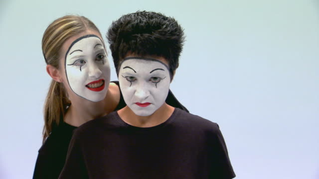 two mimes performing in studio - mime artist stock videos & royalty-free footage