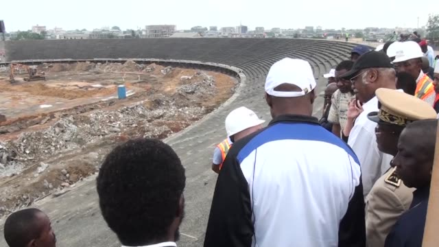 Two months after a visit by the African Football Confederation inspectors in Cameroon Prime Minister Philemon Yang visits Douala to check the state...