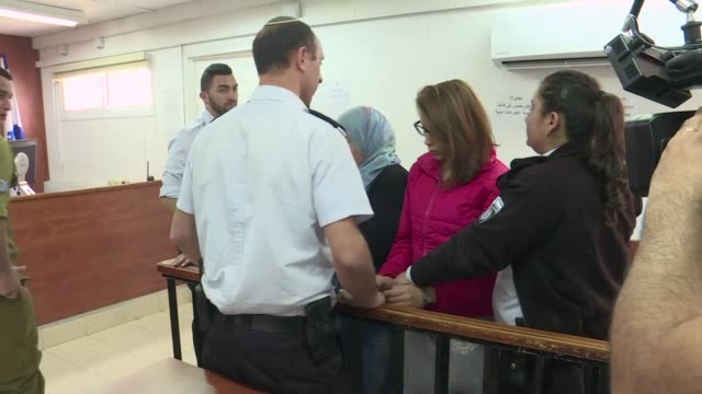 two more palestinian women appeared in an israeli military court thursday after a viral video of an alleged assault on israeli soldiers in the... - court stock videos & royalty-free footage