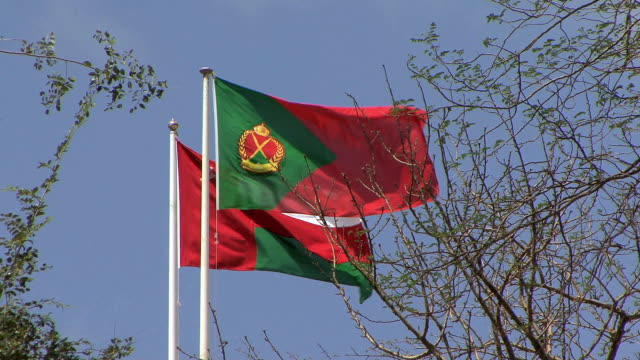 ws la two omani flags, muscat, oman - oman flag stock videos and b-roll footage