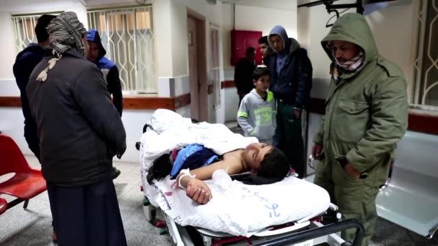 two palestinians were injured in rafah during israeli military raids - gaza strip stock videos & royalty-free footage
