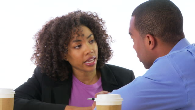 two people business people talking face to face - examination gown stock videos & royalty-free footage