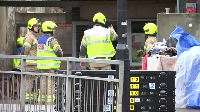 two people dead in suspected gas explosion in southall england london southall ext road taped off and damaged shop with debris on pavement after gas... - itv evening news stock videos & royalty-free footage