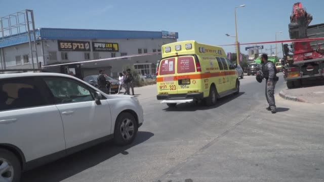 two people killed in a rocket strike from gaza on the israeli city of ashkelon police said on the second day of a severe escalation in violence - ashkelon stock videos and b-roll footage