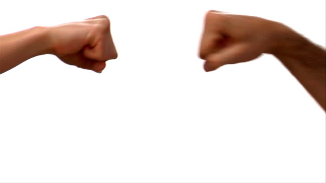 CU, Two people making fists