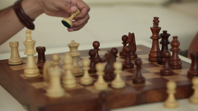 two people playing chess  - chess stock videos & royalty-free footage