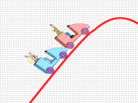 two people riding in rollercoaster cars along a changing profit and loss graph - achterbahn stock-videos und b-roll-filmmaterial