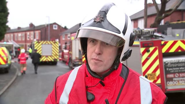 Two people seriously injured and three others hurt in house explosion in Manchester Paul Duggan interview SOT **Duggan interview partly overlaid...
