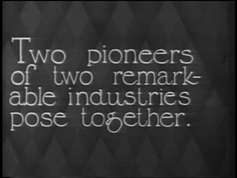 """two pioneers of two remarkable industries..."" / newsreel - 1928 stock videos & royalty-free footage"