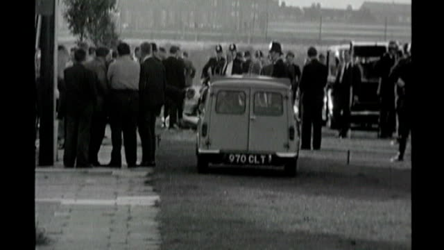 two police officers shot dead in greater manchester 1781966 wormwood scrubs police officers at scene of murder roy jenkins visiting scene of crime... - greater london stock videos and b-roll footage