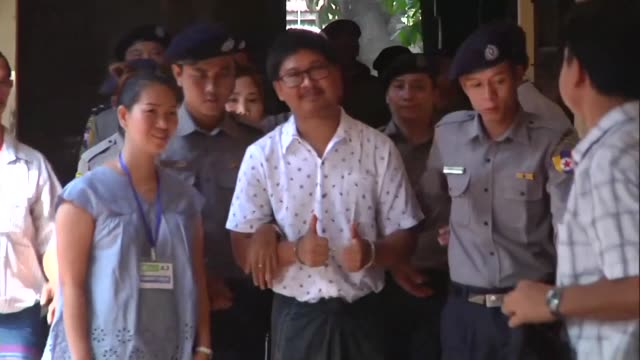 Two Reuters journalists accused of breaching Myanmar's secrecy law appear in court in Yangon 100 days after they were arrested in a case that has...