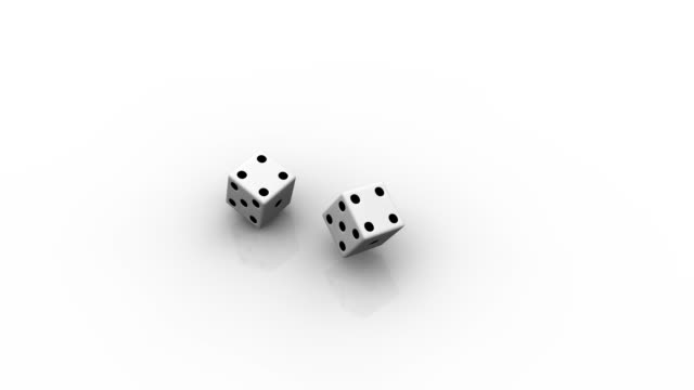 two rolling dice - number 6 stock videos & royalty-free footage