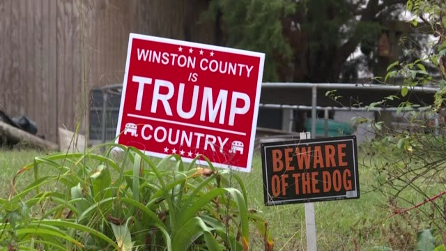 two rural counties in the conservative state of alabama are competing to deliver the highest percentage of votes to us president donald trump in the... - alabama us state stock videos & royalty-free footage