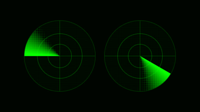 two screens of a radar - radar stock videos and b-roll footage