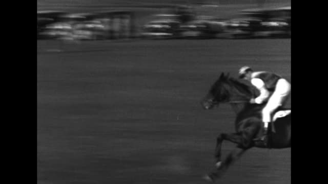 two shots of jockeys racing in steeplechase / note exact year not known - steeplechase stock videos and b-roll footage