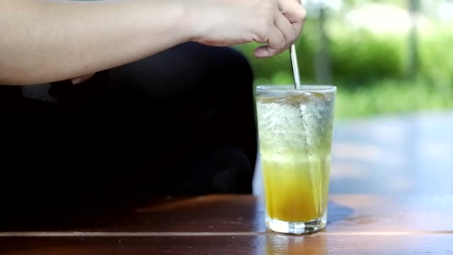 two shots of stirring italian soda drink - stirring stock videos & royalty-free footage
