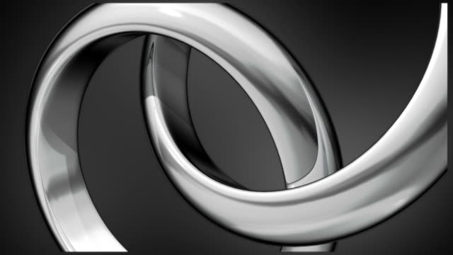two silver rings composition - two objects stock videos and b-roll footage