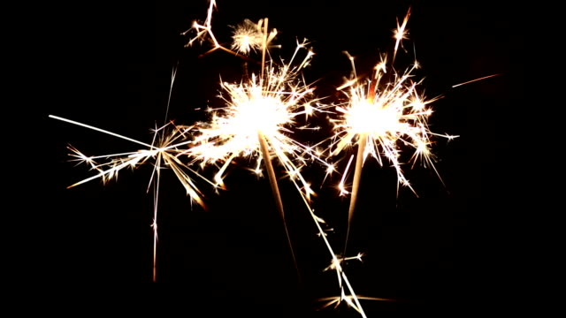 two sparklers - two objects stock videos & royalty-free footage