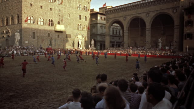ws two team playing ancient  football game / florence, italy  - ancient stock videos & royalty-free footage
