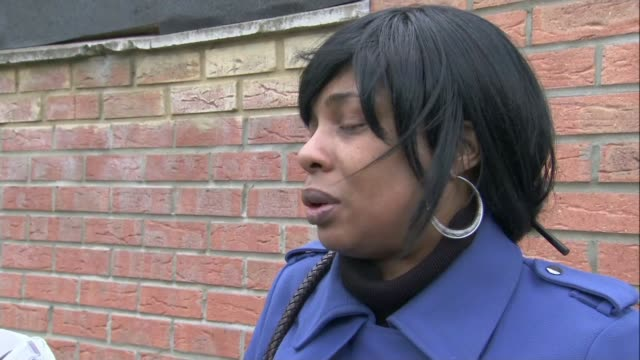 two teenagers die after night of gun violence in london / debate over stop and search tactics tottenham various shots of lisa robinson looking at... - godmother stock videos & royalty-free footage