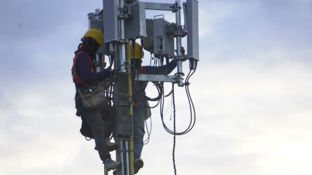 Two telecommunication in high altitude works