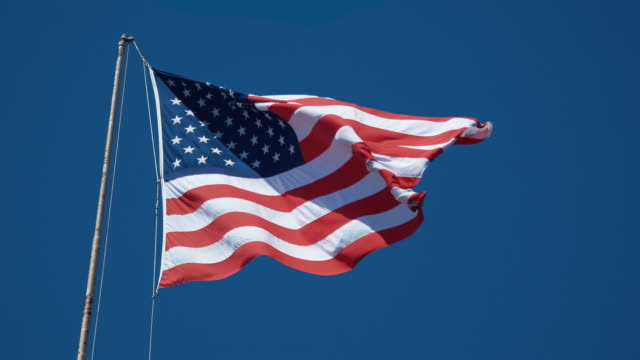 Two videos of American flag in 4K