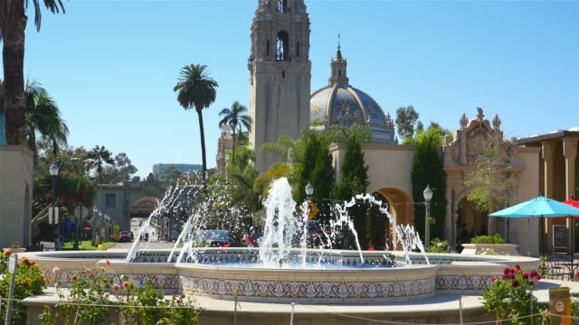 zwei videos von balboa park in 4 k - san diego stock-videos und b-roll-filmmaterial