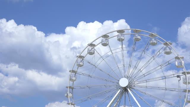 two videos of ferris wheel in 4k - prater park stock videos & royalty-free footage